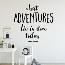 Drop Shipping adventure Removable Art Vinyl Wall Stickers Decor Living Room Bedroom Decal Creative