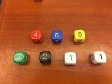 6 digital 16mm dice d6 bosons table rejection of child souvenir gift decoration dnd six dice Digital 1-6