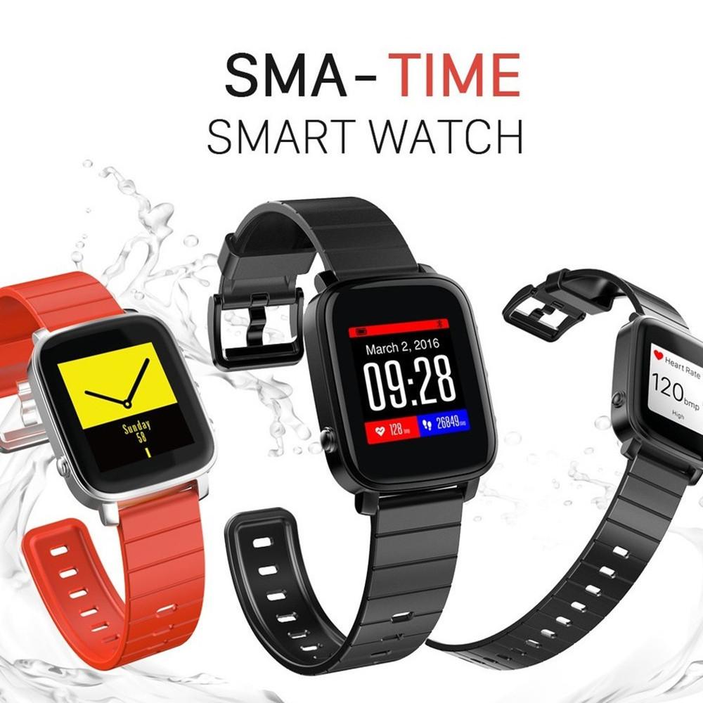 Prix pour Sma-temps bluetooth smartwatches sport étanche sommeil coeur taux tracker bracelet chronomètre smart watch pour andoird ios