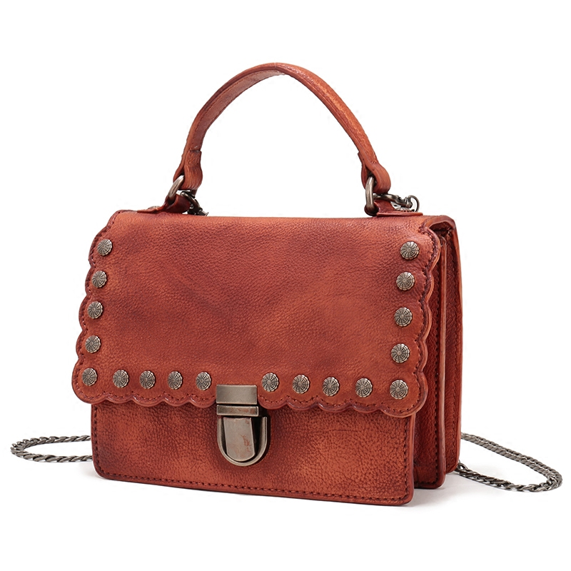 BJYL 2018 womens handbags new genuine leather female shoulder Messenger bag small rivet square bag ladies chain mini bagsBJYL 2018 womens handbags new genuine leather female shoulder Messenger bag small rivet square bag ladies chain mini bags