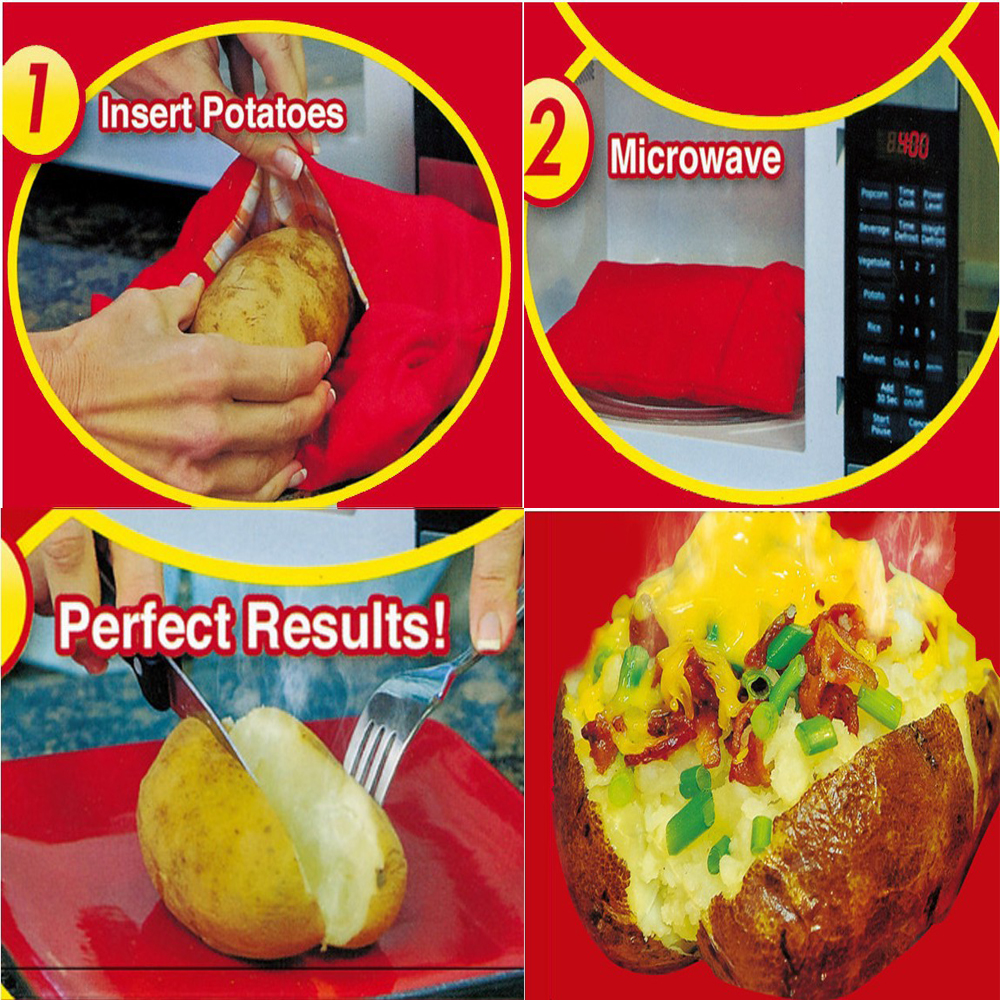 Gougu Cooker Bag Baked Potato Microwave Cooking Quick Fast Cooks 4 Potatoes At Once Hot Ing On Aliexpress Alibaba Group