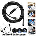 Android Phone Inspection Camera 1M 2M 5M 3.5M 7mm lens Endoscope inspection Pipe IP68 Waterproof 480P HD micro USB Snake Camera