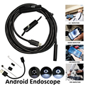 Teléfono Android cámara de inspección 1 m 2 M 5 M 3,5 m 7mm lente de la inspección del endoscopio de IP68 impermeable 480 p HD micro USB cámara de serpiente
