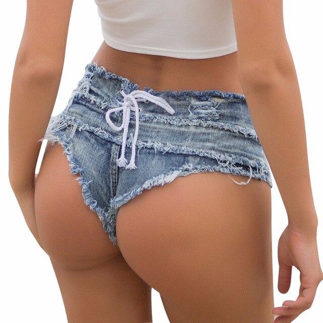 Tastien 2018 New Fashion Women Hot Shorts Solid Denim Booty Beach White Girls Shorts Punk Summer