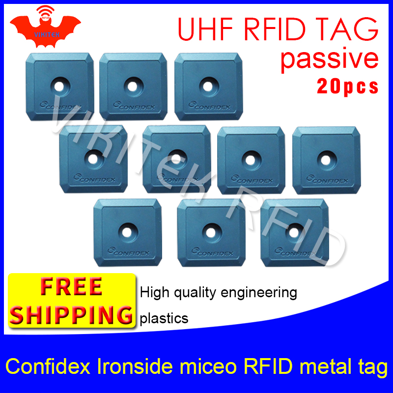 UHF RFID metal tag confidex ironside micro 915m 868m Impinj Monza4QT EPC 20pcs free shipping durable ABS smart passive RFID tags