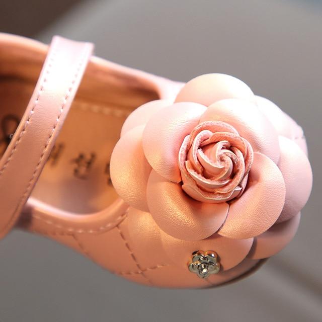 Chaussures en cuir pour filles | Motif de fleurs, chaussures à semelle souple, pour bébés de 0-1-2 ans, printemps et automne 2018