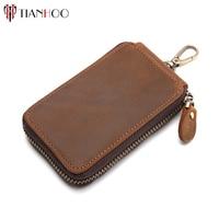 Genuine Cow Leather Car Key Bag Wallet Mn Key Holder Multi Function Key Case Hot Sale