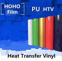 Warmteoverdracht vinyl 0.3 m x 20 m PU transfer vinyl ijzer op voor kleding HTV shirt hoge elastische decor film gemakkelijk te snijden Groothandel