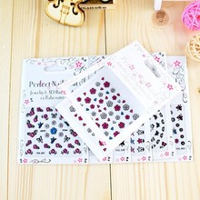 30 Pcs Various Design 3D Nail Stickers Decals Colorful Butterfly Flower Series Adhesive DIY Charm Sticker Decoration NTK27#