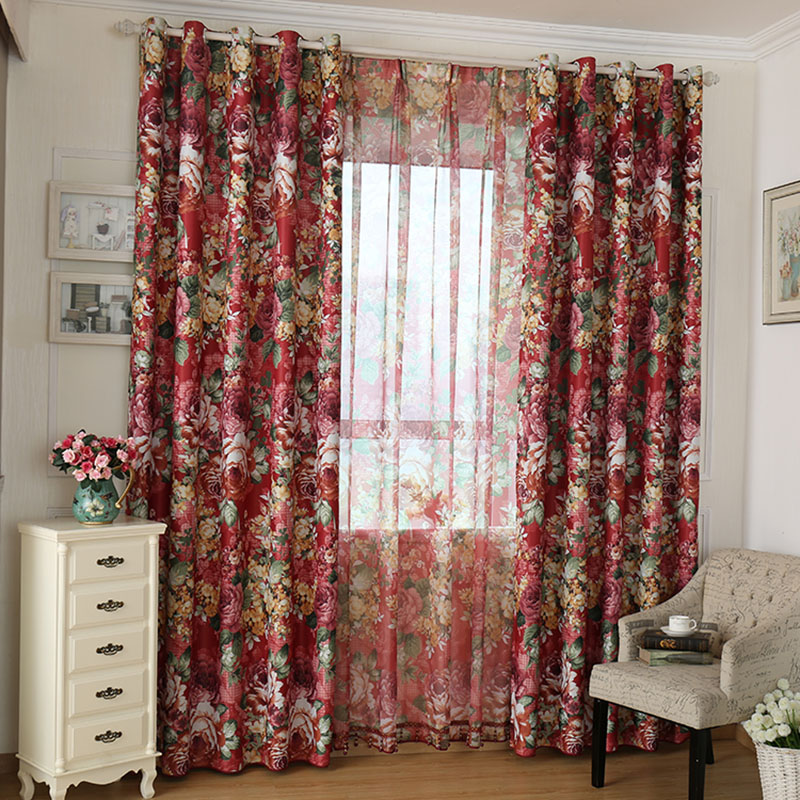 blackout curtains for living room bedroom children room american country style cortinas cortinas rideaux 3d curtains