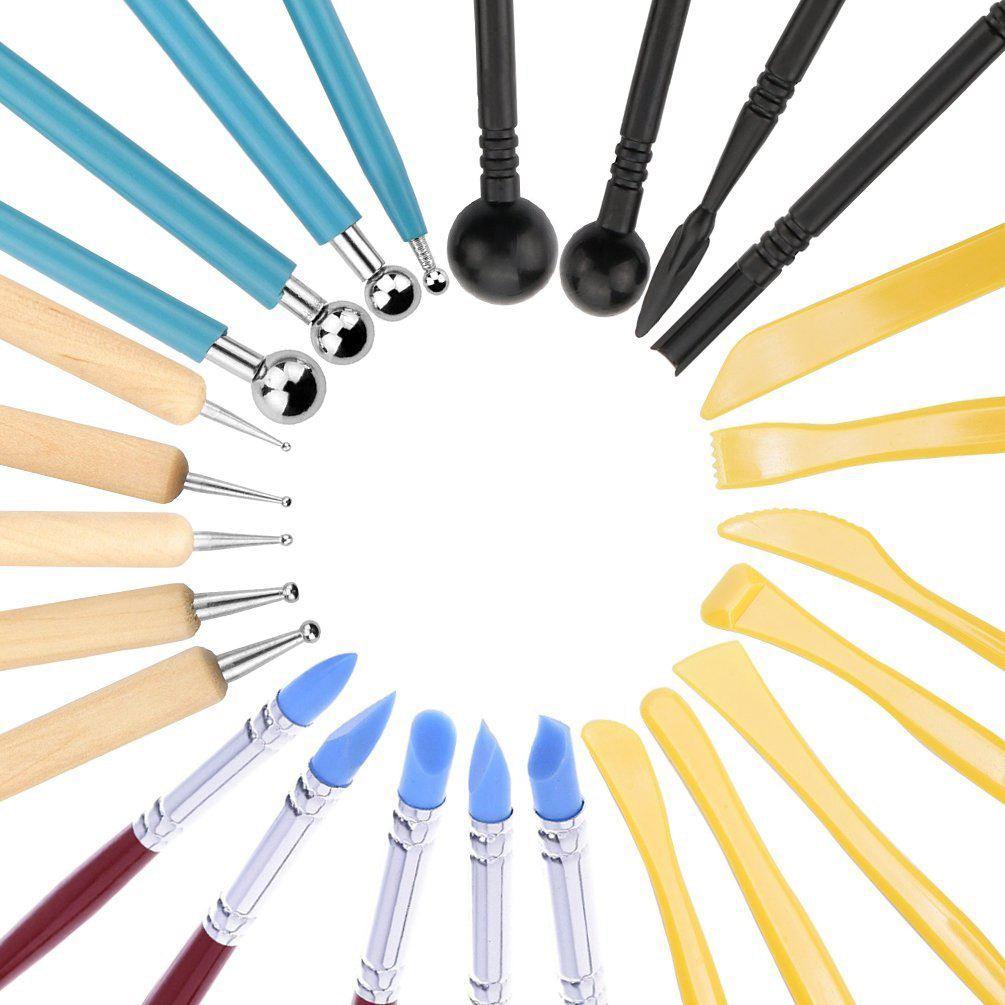 25 piezas de arcilla herramientas Herramientas de modelado de la escultura herramientas para cerámica escultura Fondant pastel Decoración