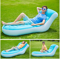 Float Luxury flocking back inflatable sofa lazy sofa lunch break loungers outdoor portable inflatable chair couches 84X170X81CM