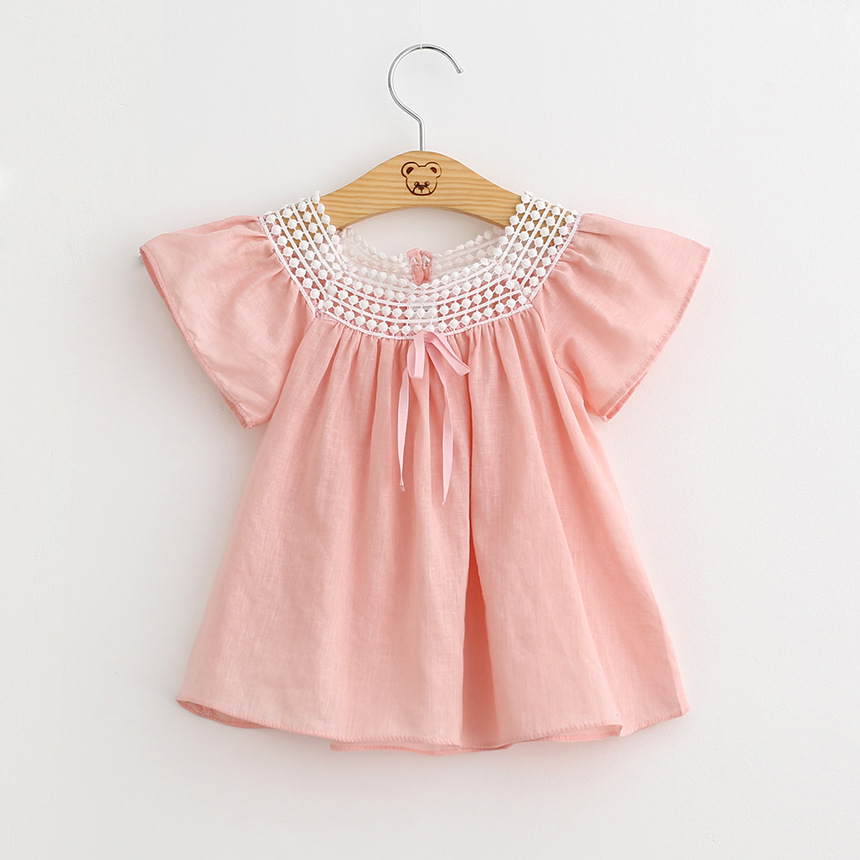 Aliexpress.com : Buy Kids Cotton Cute Blouse Summer Lace Patchwork ...
