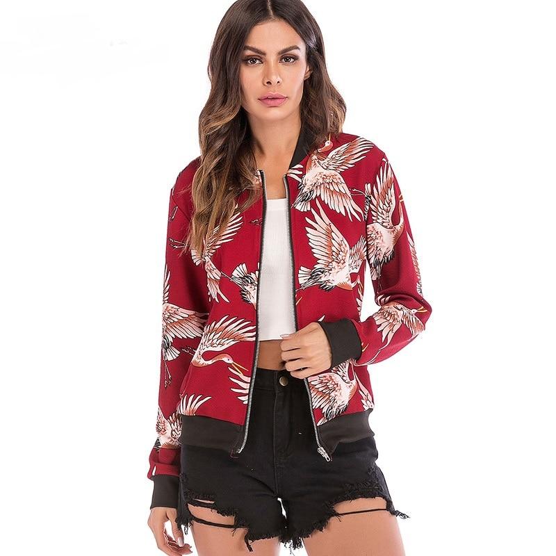 Vintage embroidery   basic     jacket   coat Autumn 2018 street satin bomber   jacket   Women reversible baseball   jackets   sukajan