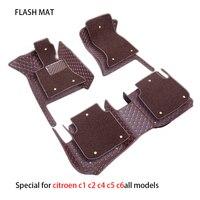 Special car floor mats for citroen c1 c4 grand picasso c5 ds5 car accessories car mats
