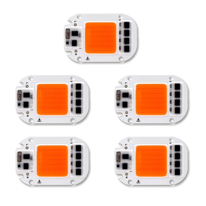 5PCS Full Spectrum LED COB Chip For Grow Plant Light 220V 110V 20W 30W 50W Phyto Lamp For Indoor Plant Seedling Grow and Flower 10pcs cob led grow chip phyto lamp full spectrum 20w 30w 50w led diode grow lights for seedlings indoor diy hydroponics ac 220v