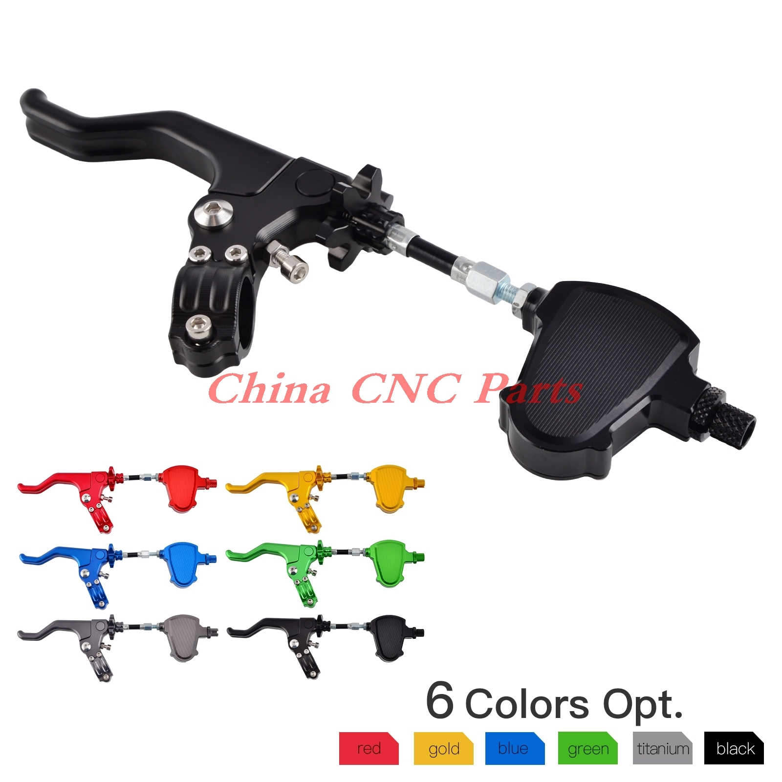 NICECNC Stunt Clutch Pull Cable Lever Replacement Easy System For Honda Kawasaki Suzuki Yamaha Ducati Buell Triumph Street/Sport 22mm 7 8 handlebar cnc short stunt clutch lever perch assembly for honda suzuki yamaha kawasaki triumph