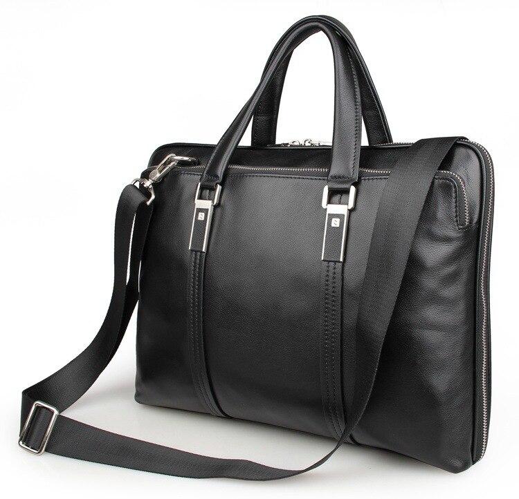Nesitu noir en cuir véritable hommes serviette 14 ''ordinateur portable bureau OL A4 portefeuille hommes Messenger sacs d'affaires voyage sac M7326