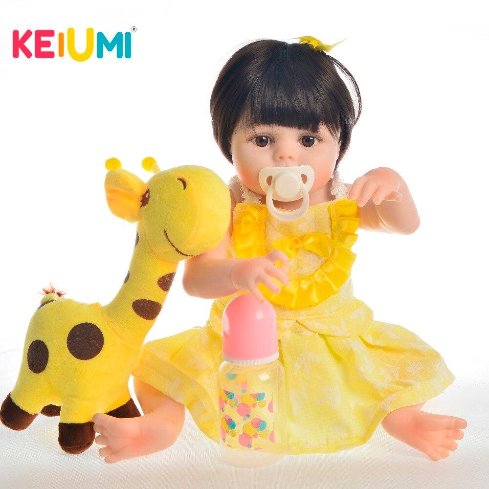 KEIUMI Lovely 19 pulgadas Reborn Baby Doll juguetes de silicona completa Reborn Doll para niña navidad regalo Navidad hora de dormir Playmate-in Muñecas from Juguetes y pasatiempos    1