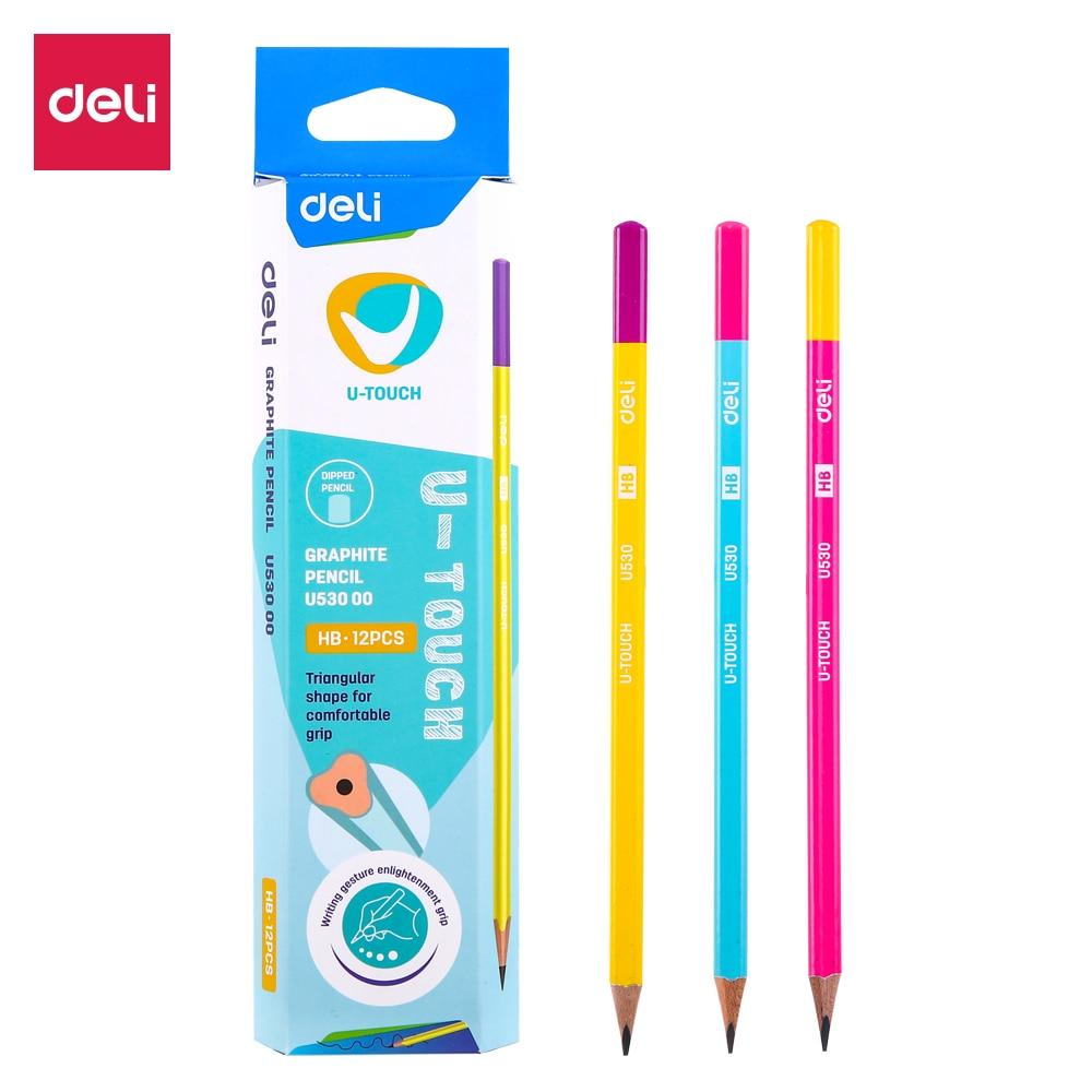DELI Graphite Pencils For School 1 Box(12PCS)  HB/2B Cute Pencil Drawing Pencil Set Pencils For Kids  EU53000 EU53100