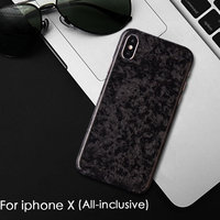 Pure carbon fiber phone case Luxury retro Original real carbon fiber Phone Case For Iphone 6 S 7 8 plus X S hard back cover
