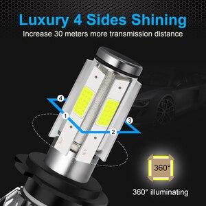 Image 2 - 4 strony 12000LM żarówki reflektorów samochodowych H4 H7 Led H8 H11 HB4 Led HB3 9005 9006 12V 24V 100W 6000K światła samochodowe żarówki światła przeciwmgielne lampy