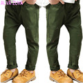 Teenagers Pants 2017 Spring Korean Style Big Boys Graffiti Amry Green Trousers Children Kids Casual Pants Trousers Clt095