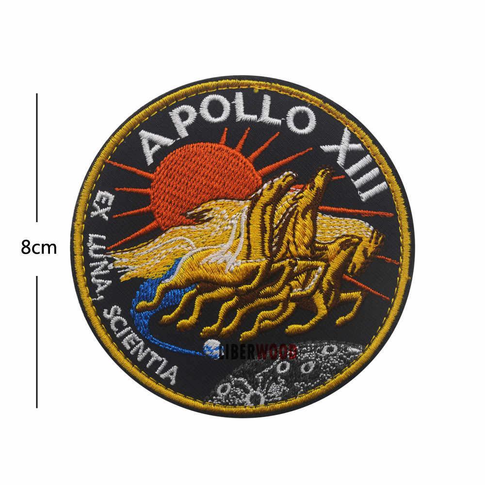 VINTAGE ORIGINAL Apolo 11 VOYAGER emblemas a espacial parche Collage de EE. UU. Misión Apolo parche Set 1 7 8 9 10 11 12 13 14 15 16 17