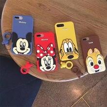 купить Cute Disney Minnie Couple Ring Rubber Silicone case Cover for iPhone X XS Max 8 7 6S Plus Shockproof по цене 292.44 рублей