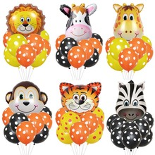 Mixes Animal  Balloons Cute Unicorn Pony Lion Tiger Cub Pet Aluminum Ballons birthday party decorations kids and adult
