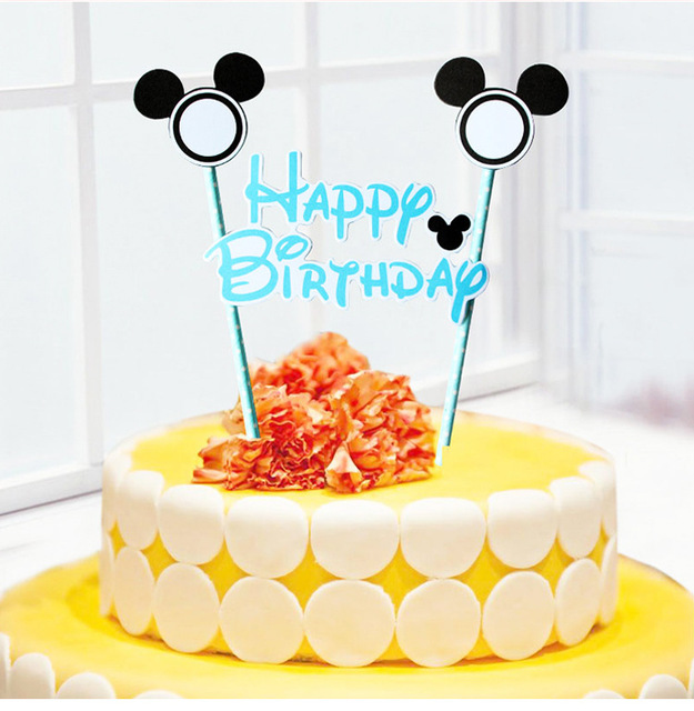 Mickey Minnie Mouse Cake Topper for Kids Happy Birthday Party