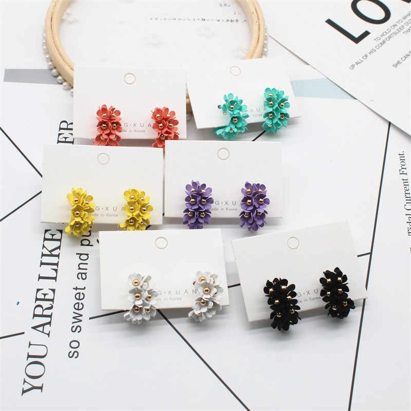 new design fashion jewelry hot elegant flower earrings South Korea beach resort earrings floret combination earring for women