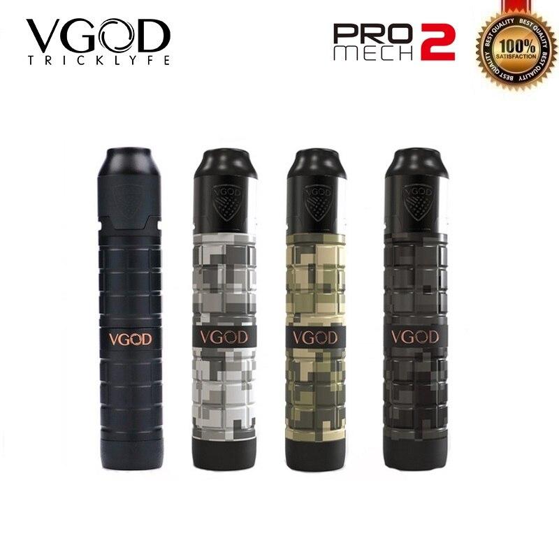 D'origine VGOD Pro Mech 2 Kit Série Mod avec Elite RDA Réservoir 2 ml Atomiseur 24mm Diamètre Vaporisateur Mech e-Cigarette Kit VS Vgod Pro Mod