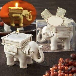 Image 5 - Ретро подсвечник в виде слона для чая, Керамический Свадебный домашний декор цвета слоновой кости