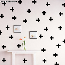 18pcs  Cross Wall Stickers Kindergarten Children room Decorate Removable Vinyl sticker Home Art wall