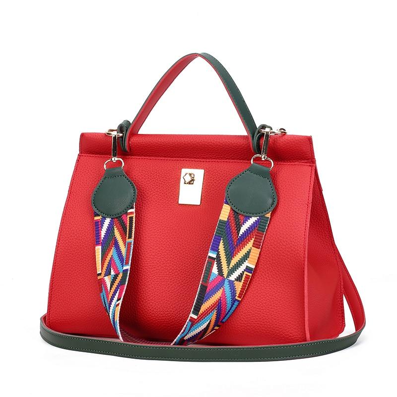 New Fashion Women Handbag 2017 Luxury Designer Solid Leather Shoulder Bags Hand