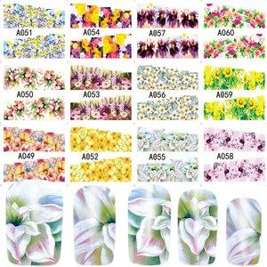 Image 3 - 48Pcs Water Transferเล็บสติกเกอร์ดอกไม้ที่มีสีสันเคล็ดลับแสตมป์Decalsเล็บความงามA049 096SET