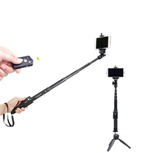 New Handheld Bluetooth Selfie Stick With Phone Holder For 4-6inch Samsung Iphone Monopod Mini Tripod Gopro DSLR Cameras
