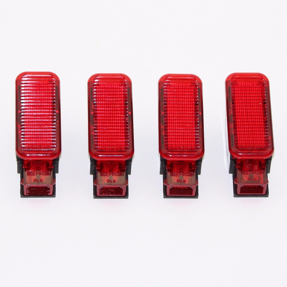 4Pcs Car Door Panel Interior Red Warning Light New For A7 A8 Q3 Q5 TT A3 S3 A6 S6 A4 S4 RS3 RS4 RS7 8KD 947411 8KD947411