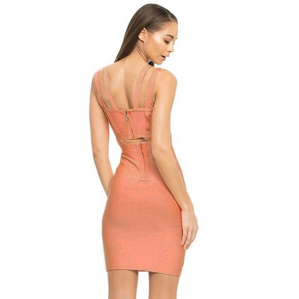 Seamyla Новое Бандажное платье 2019 женские платья знаменитостей для вечеринок Мини Сексуальная Клубная одежда розовый черный синий облегающее летнее платье для подиума