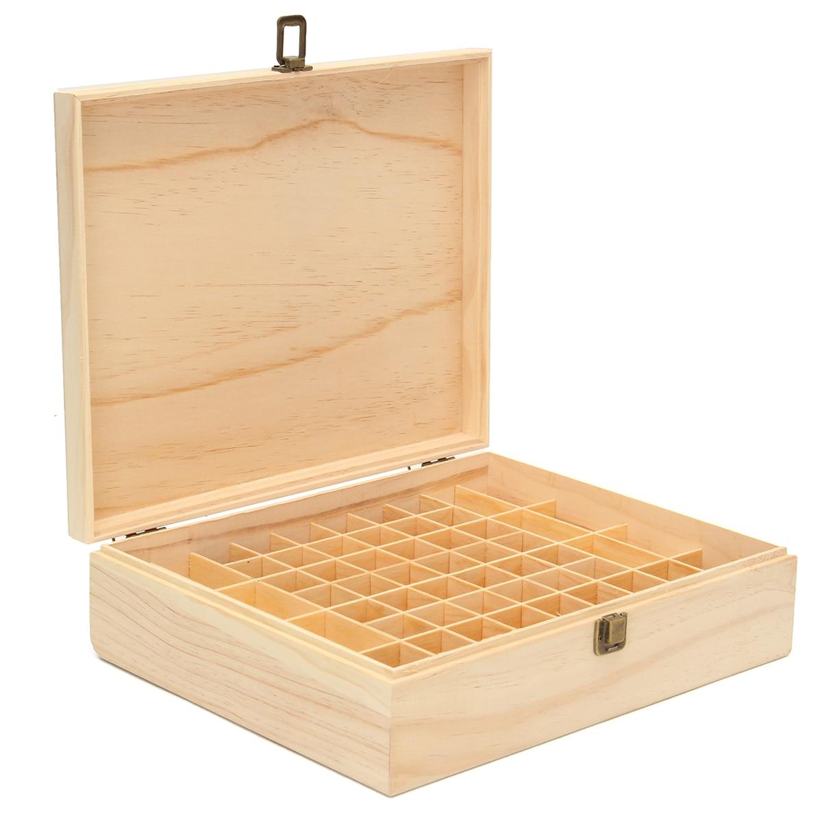 64 Slot Scatola di Immagazzinaggio Contenitore di Olio Essenziale di Legno Aromaterapia Bottiglie Cassa Dei Monili Organizer Home Storage Holder Helper