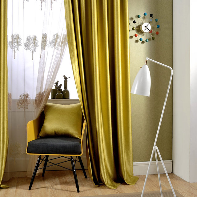 Online Shop Sparkle blauw/geel Parel kasjmier Blakcout Gordijnen ...