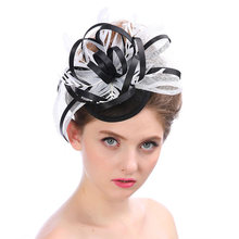 Party Decoration Bridal Net Yarn Hairpin Hat Veil Feather Headdress Hair Accessories Wedding Banquet Small Hat Gauze Fascinator(China)