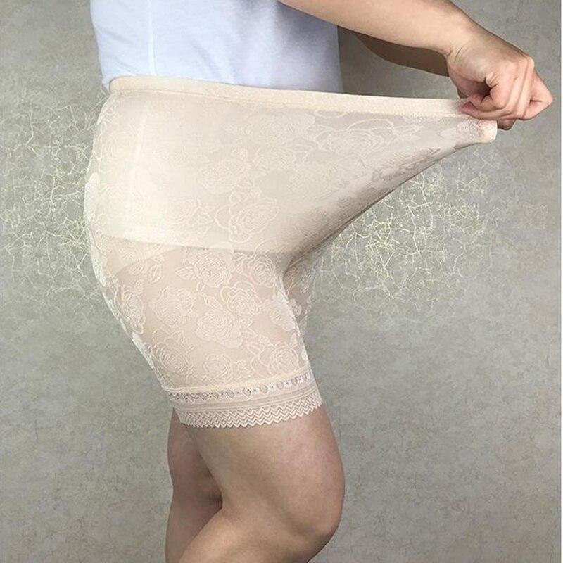 MAX 120KG Plus Size High Elastic Jacquard Weave Lace Pants,anti Chafing Legs Big Pants Safety Short Pants Women 4547 6xl,5xl