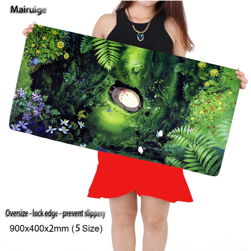 Mairuige Laser Gaming Animation Wholesale Large Game Cat Mouse Pad Mat Laptop Keyboard Mat 900*400*3 for CS GO League of Legends