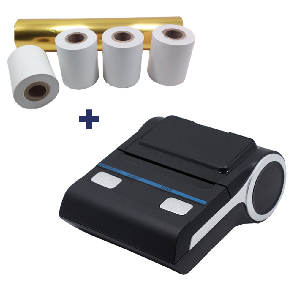 4 Rolls Free Thermal Paper Android Bluetooth Thermal Printer 58mm Mini Bluetooth Thermal Receipt Printer MHT-P8001 thermal printer free 1 printer paper for contec multi parameter patient monitor