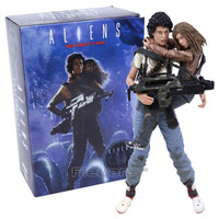 NECA Alien 2 This time it's war Ellen Ripley & Newt 30th Anniversary PVC Action Figure Collectible Model Toy 2 pack 7 18cm