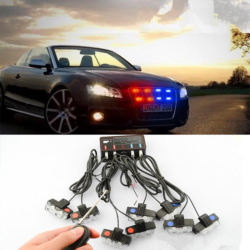 ФОТО Police Wireless car strobe light Remote Control 16W High Power Strobe flash led warning light  Work light DRL Strobe  pilot Lamp