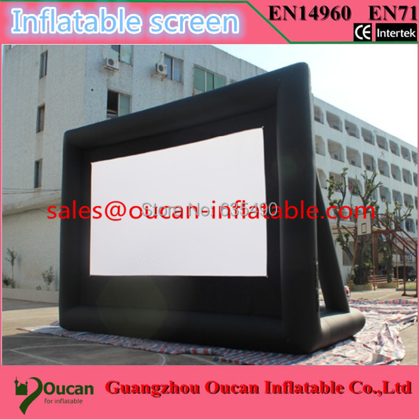 Hot sale strong 210D oxford cloth inflatable movie screen with free air blower and free shipping by express free shipping 3m inflatable ice cream with blower hot sale inflatable oxford nylon cloth model for inflatable toys