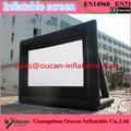 Hot sale strong 210D oxford cloth inflatable movie screen with free air blower and free shipping by express
